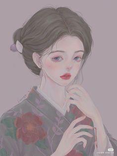 China Art, Beautiful Anime Girl, Anime Fantasy, Big Eyes, Anime Art Girl, Shoujo, Kawaii, Manga, Artist