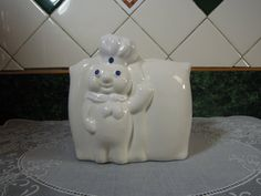 I love the Pillsbury Dough Boy, and this vintage napkin holder I found on Etsy is adorable!