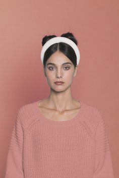 White Velvet Headband. Made in Italy by #Bluetiful craftmen