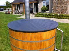 wood ired hot tub nice idea