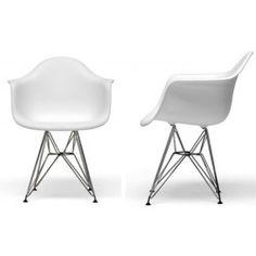 Set of 2 Wire Base Arm Chair - Eames Eiffel Arm Chair $200