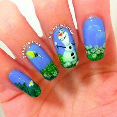 Have a look at the collection of 15 Disney Frozen Olaf nail art designs, ideas, trends & stickers of Enjoy these Olaf nails and stay up to date. Disney Frozen Olaf, Frozen Movie, Sparkle Nail Designs, Sparkle Nails, Nail Art Designs, Nails Design, Frozen Nail Art, Frozen Nails, Olaf Nails