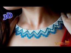 Beaded Necklace with Seed&Bugle Beads. 3D Beading Tutorial, My Crafts and DIY Projects