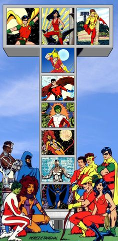 Just a bit of editing, and I made this... I just wish that all of the pictures of the Titans were all done by George Perez...