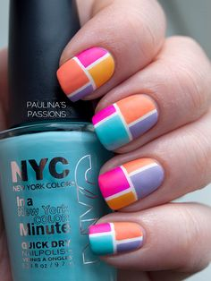 Color Block Nails Trying this just got me striping tape yesterday guess where it was from china...lol