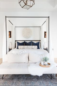 Home Decoration Bedroom .Home Decoration Bedroom Black Master Bedroom, Master Bedroom Layout, Bedding Master Bedroom, Home Decor Bedroom, Modern Bedroom, Modern Canopy Bed, Bedroom Ideas, Black Canopy Beds, Wood Canopy Bed
