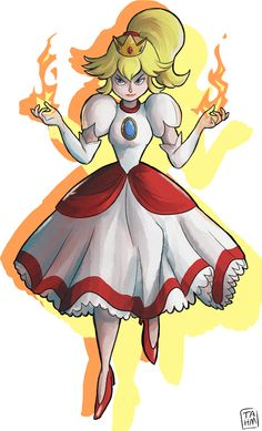 I want to cosplay as her: Fire Flower!Princess Peach (MarIo 3D world)
