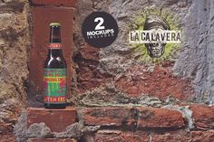 Beer Wall Mockup (duo) by Pere Esquerrà on @creativemarket