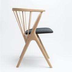 Sibast Furniture Stol No 8, Såpad Ek, Grå Ulldyn | DanskDesign.nu