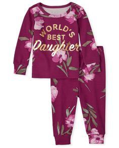 Little Girl Outfits, Kids Outfits Girls, Toddler Girl Outfits, Toddler Fashion, Toddler Girls, Aaliyah Outfits, Baby Girl Pajamas, Girls Sleepwear, Twin Girls