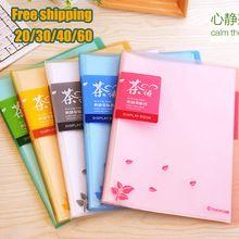 Colorido A4 PVC Transparente Carpeta De Presentación del Libro 20/30/40/60 Pantalla Bolsillos Carpeta De Archivo De Documento libro de equipos de Oficina(China (Mainland))