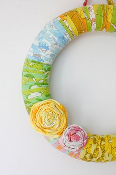 ooh vintage sheet wrapped wreath.