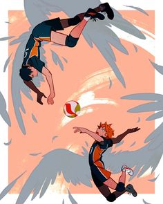 Find images and videos about anime, manga and haikyuu on We Heart It - the app to get lost in what you love. Haikyuu Funny, Haikyuu Fanart, Haikyuu Anime, Haikyuu Ships, Kageyama X Hinata, Nishinoya, Manga Anime, Fanarts Anime, Anime Art