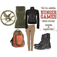 perfect, my Katniss outfit for the Hunger Games days! Hunger Games Outfits, Hunger Games Party, Fandom Outfits, Mockingjay Pin, Hunger Games Catching Fire, Hunger Games Trilogy, Katniss Everdeen, Look Cool, Style Me