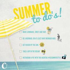 Summer to do list! #Summer #summertimefun #funinthesun  https://dreambig.origamiowl.com/