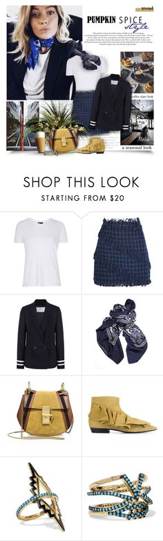 """""""Coffee Date"""" by thewondersoffashion ❤ liked on Polyvore featuring Topshop, MSGM, J.Crew, Balenciaga, Chloé, J.W. Anderson, Noir Jewelry and CoffeeShop"""