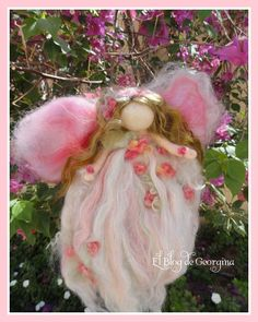 Beautiful wool angel