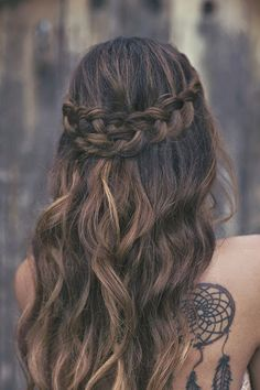 Fashion / Dip Dyed Hair / Brown Ombre Hair Hair and Beauty Tutorials / Search Results for ombre hair Pretty Hairstyles, Braided Hairstyles, Wedding Hairstyles, Style Hairstyle, Hairstyle Ideas, Braided Updo, Hairstyles Haircuts, Prom Hairstyles For Long Hair Half Up, College Hairstyles