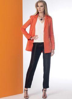 V9176 | Misses' Notch-Collar Back-Pleat Jacket, Top, Dress and Pants | Vogue Patterns