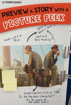 Preview a picture book with an engaging alternative to a picture walk. Blog post from The Thinker Builder