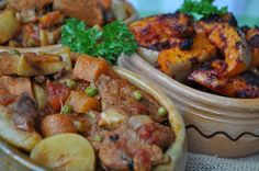 Victory Day, Pork Stew (Stuffat tal-Majjal) and baked pumpkin with tomato paste! - A Maltese Mouthful