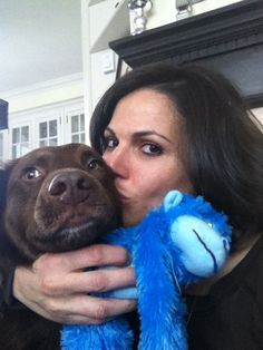 "Lana Parrilla ~ With Her Dog ~ ""Lola.""                             ❤️"