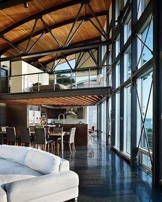 """2,202 Likes, 6 Comments - ⠀LOFT INTERIOR DESIGN IDEAS (@loft_interior) on Instagram: """"⠀⠀⠀⠀ ⠀  Друзья, представляем наш крутой проект @archi_place - это потрясающая архитектура и…"""""""