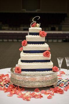 Trendy Wedding Colors Navy And Coral Cake Toppers Ideas Coral Navy Weddings, Coral Cake, Coral Wedding Decorations, Navy Blue Wedding Cakes, Wedding Colors, Coral Pink, Orange Weddings, Sunflower Weddings, Blush Weddings