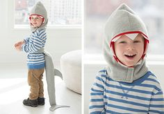 Sew this fun kids shark costume with FreeSpirit fabric, Coats Zipper and Coats Dual Duty XP sewing thread