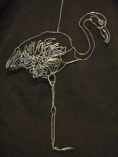 'Flamingo' Wire Art Sculpture