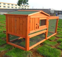 New Deluxe Large Wooden Rabbit House Wood Rabbit Hutch Pet Cage House