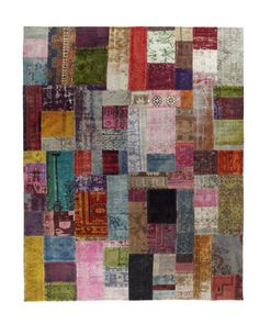 """Mona"" Patchwork Rug at Horchow."