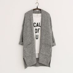 2016 Long Women Cardigans Autumn Winter Brand Long Style Knitted with Pockets Sweaters European Style