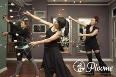 Ploome Fire Fan Dance: Study the essentials of fire fan technique and choreography, including isolations, spins, grip changes, and transitions in this mixed-method class, combining Bollywood, Middle Eastern, and Asian fan dance with the dark and dubby goodness of electro house!
