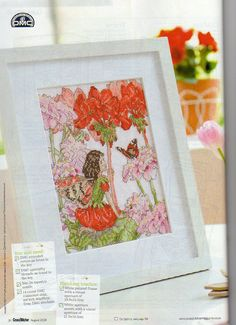 Flower Fairy DIY Kit for Beads embroidery over the fabric with printed pattern CM Lily