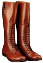 RCMP Boots  The Alberta Boot Company has been making the World famous Strathcona High-Brown Police Boot for the Royal Canadian Mounted Police (RCMP), since 1999. We've made thousands of these top-quality Police and Riding Boots for the Mounties - available in men's and ladies sizes.