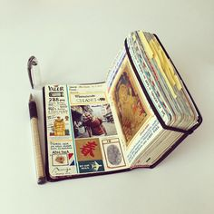 Moleskine notebook spread by Jose Naranja Art Journal Pages, Bullet Journal Ideas Pages, Bullet Journal Inspo, Junk Journal, Art Journals, Kunstjournal Inspiration, Art Journal Inspiration, Journal Aesthetic, Scrapbook Journal