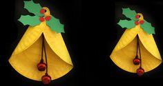 Je kerstboom versieren met je knutselwerkjes is erg leuk! We gaan kerstbellen maken van papieren bordjes. Leuk voor in de #kerstboom maar ook voor het raam. #kerst #knutselen