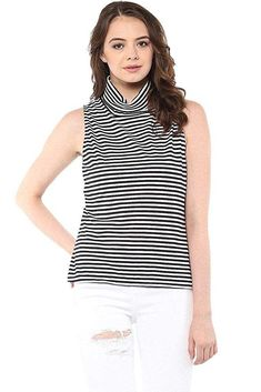 1edbaa23cd341e Miss Chase Women s Striped Regular Fit Top and White Small). IWantThatTop.in