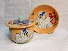 Shih Tzu 8 Ceramic Dog Bowl for Food or Water and Treat JarCookie Jar Personalized at no Charge Signed by Artist Debby Carman ** You can get additional details at the image link. Ceramic Dog Bowl, Shih Tzus, Cookie Jars, Dog Bowls, Fur Babies, Treats, Ceramics, Canning, Laguna Beach