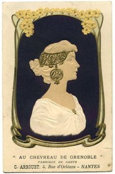 Vintage Art Nouveau Postcard Mucha Style Glove MFR Advertising | eBay