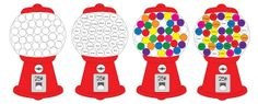 Repeat Crafter Me: Gumball Machine Color Matching with Craft Pom Poms with free printable