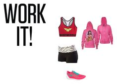 """""""Wonder Woman work out outfit"""" by cheerfulness1998 ❤ liked on Polyvore featuring Under Armour, Junk Food Clothing, NIKE, women's clothing, women, female, woman, misses and juniors"""