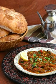 This warm Moroccan Eggplant Salad (Zaalouk) combines cooked eggplant, tomatoes, and classic spices and is enjoyed as a side or alone with lots of bread. Roasted Eggplant Salad, Roast Eggplant, Ways To Cook Eggplant, Eggplant Recipes, Eggplant Dishes, Vegetarian Recipes, Cooking Recipes, Healthy Recipes, Cheap Vegan Meals