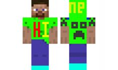 minecraft skin hi-steave
