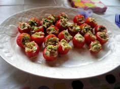 BLT Bites (Stuffed Cherry Tomatoes) from Food.com: These are so yummy. They taste just like a BLT sandwich without the bread. I made these for thanksgiving and they disappeared in less than 10 minutes! They are so yummy and they look great for entertaining!