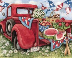 Susan Winget: Little Red Truck Christmas Truck, Red Christmas, Holiday, 2015 Wallpaper, Desktop Wallpapers, Red Truck Decor, Vintage Red Truck, Independance Day, Truck Paint