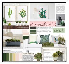 """the succulents and cacti"" by licethfashion ❤ liked on Polyvore featuring interior, interiors, interior design, home, home decor, interior decorating, Dot & Bo, Crate and Barrel, John-Richard and Laura Ashley"