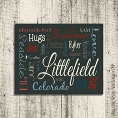 Personalized Family Wall Art - Words that describe your family - Printable Wall Art