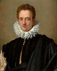 Alessandro Allori e bottega - Ritratto di un gentiluomo fiorentino (forse Piero de 'Medici) -XVI sec. - São Paulo Museum of Art